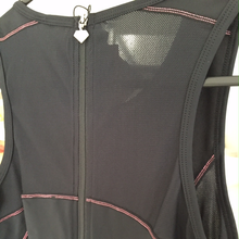 Load image into Gallery viewer, Triathlon Suit - SANTIC Black with pink geometric detail design