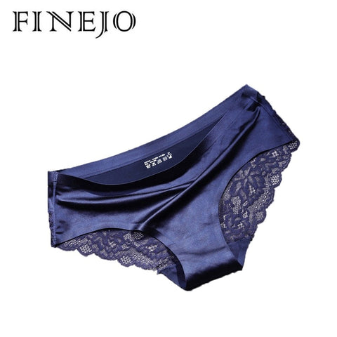 FINEJO Women's Sexy Lace Panties Seamless Underwear Briefs Cotton Panty for Ladies Crotch Transparent Lingerie 1 pc New Sale