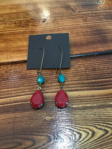 Class act earrings- Turquoise