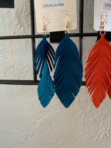 Leather feathers