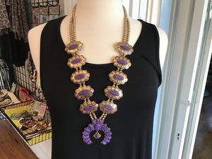 Purple Squash Blossom Necklace