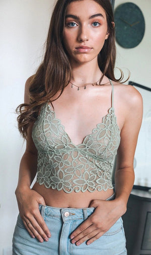 Spring Flowers Lace Bralette