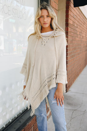 Autumn Woods Hooded Poncho