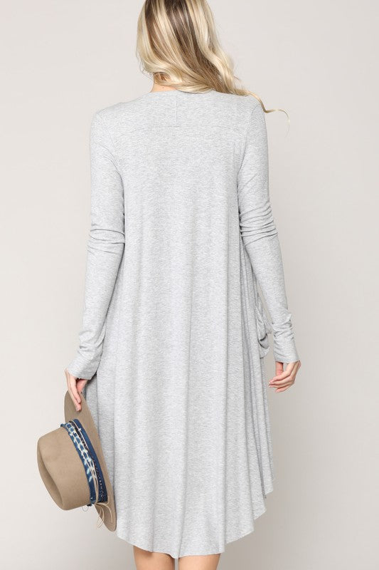 Lightweight Rayon Duster Cardigan
