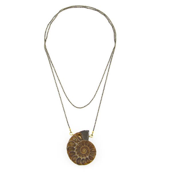 "32"" Ammonite Fossil Necklace"