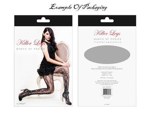 Faux Garters Fishnet Tights