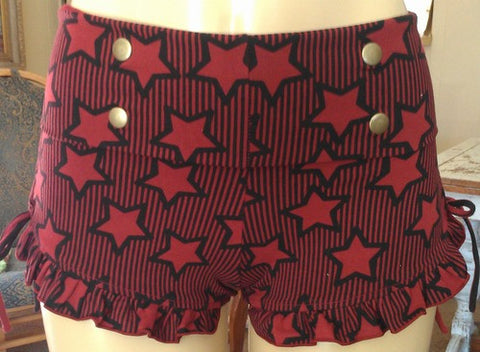 Cotton Lycra Gypsy Shorts by Maddie Moon