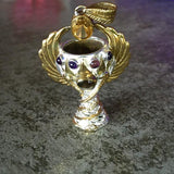 Holy Grail Pendant - Brass & Silver