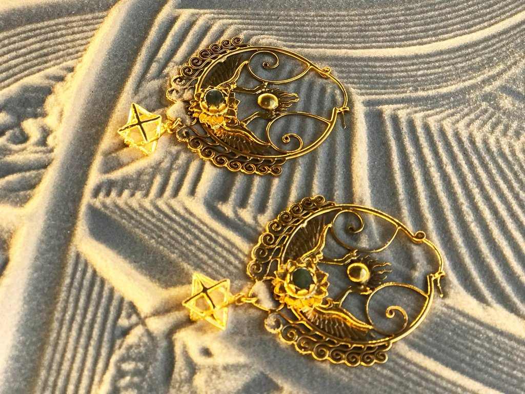 Shakti Bhakti Earrings 24k Gold