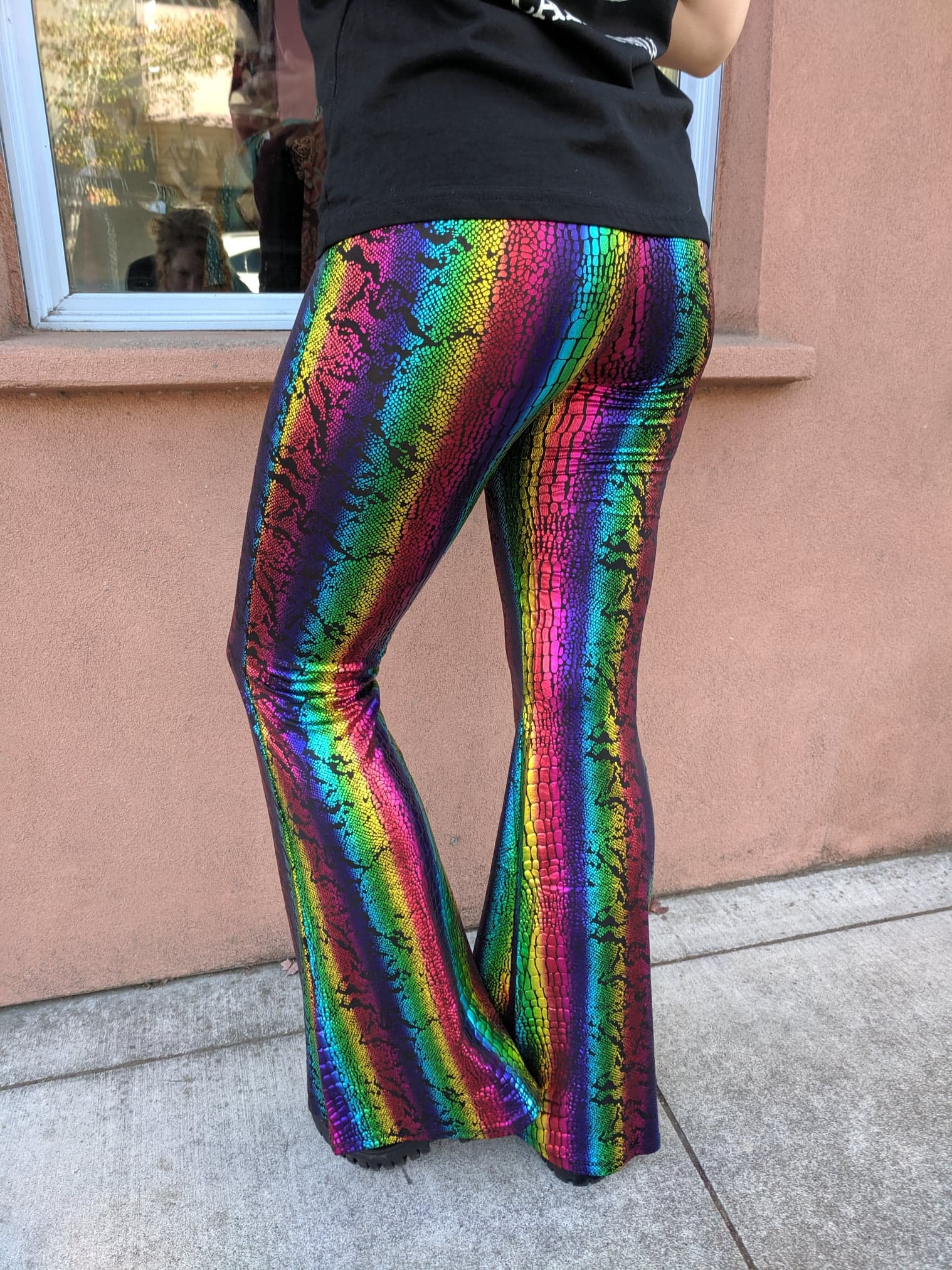 Rainbow Serpent Bell Bottoms