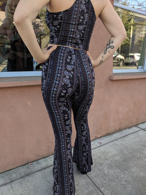 Dark Paisley Bell Bottoms