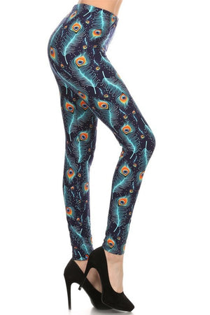 Electric Peacock Leggings