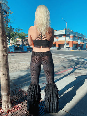 Midnight Burnout Velvet Pirate Pants