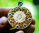 Compass of Love Pendant - Silver&Gold -Mother of Pearl