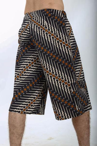 Batik Shorts by Om Gaia Tree