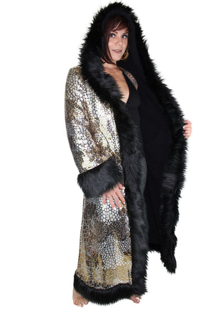 Silver & Gold Sequin Baroness Coat