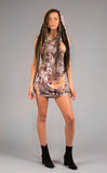 Autumn Feather Huntress Cinch Dress