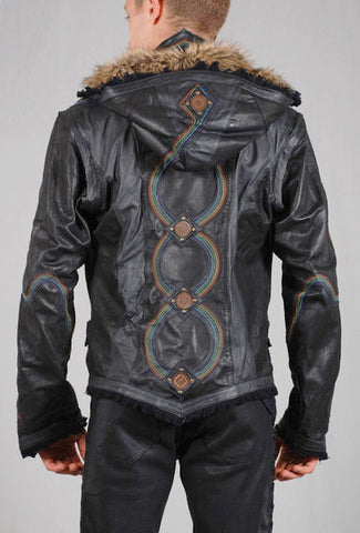 Rainbow Serpent Leather Jacket by Anahata Designs