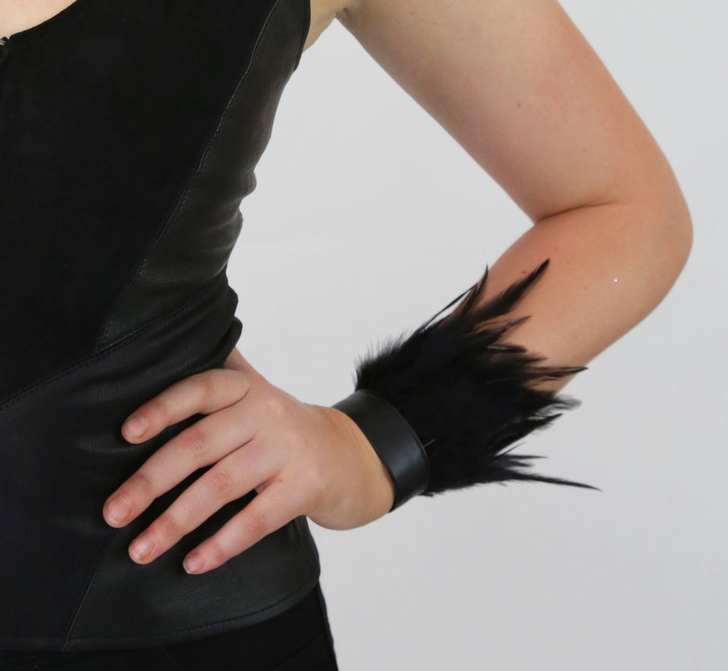 Leather & Feather Cuff