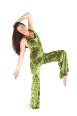 Emerald Green Crush Velvet Mystique Onesie - by Warrior Within