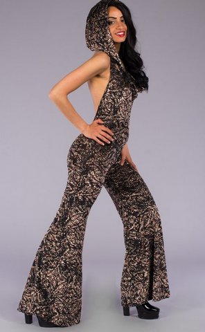 Metallic Lotus Burnout Velvet Mystique Onesie