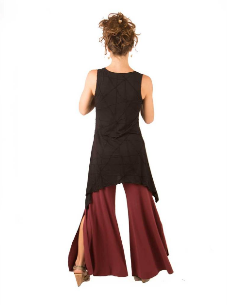 Slit Pants by Caraucci