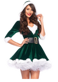 Mrs. Claus Velvet Dress
