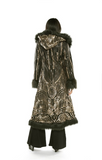 Baroness Gold Art Deco Sequin Faux Fur Coat