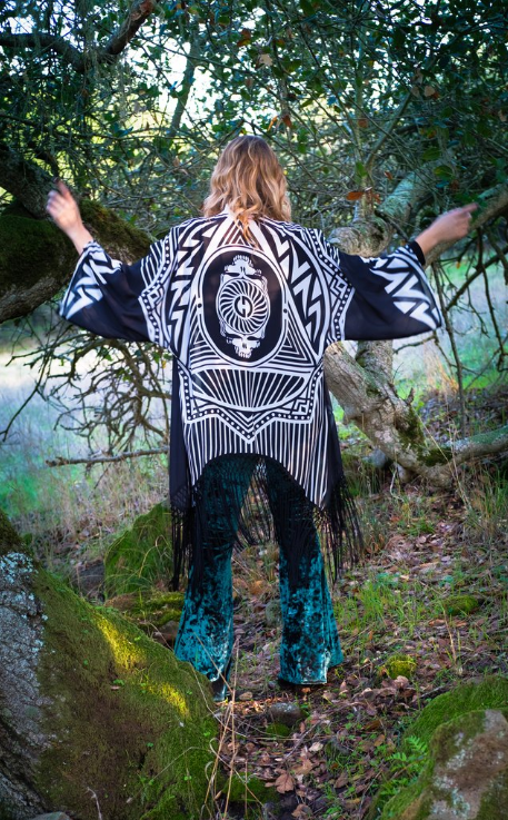 Grateful Dead Kimono - Midnight Black
