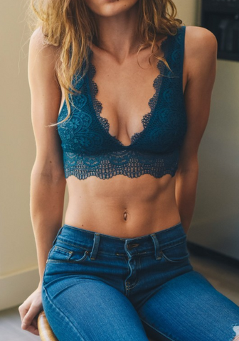 Plunging Lace Bralet
