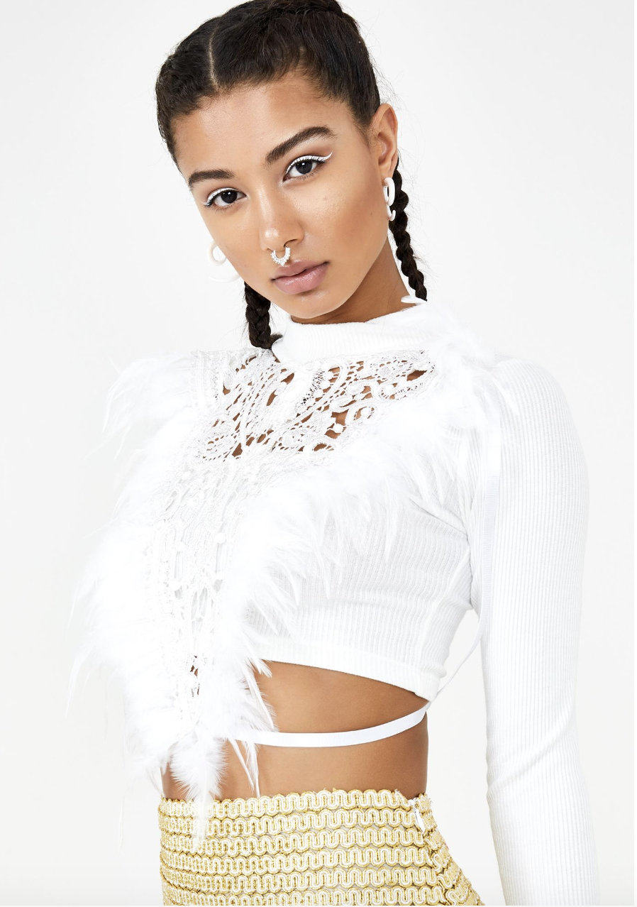 Angel Feather Top- Ivory