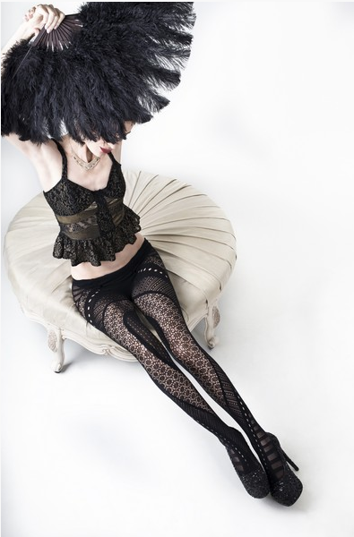 Geometric Fishnet Tights