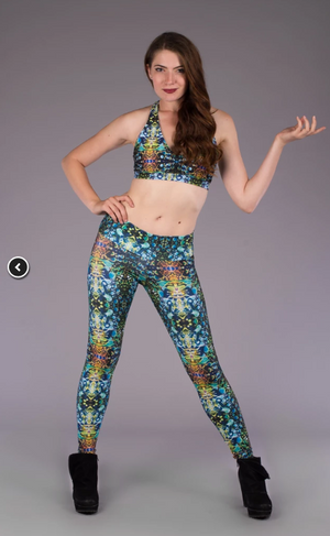 Green Liquid Light Ladyhawke Leggings