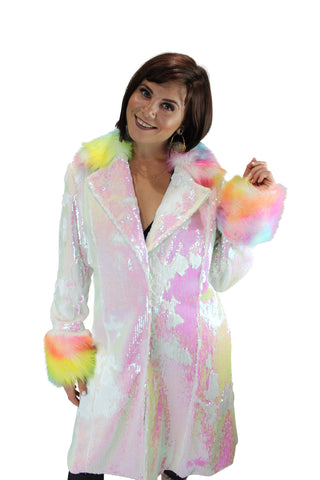 Unicorn Flip Sequin Festival Coat