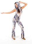 White Tail Feather Firebird Slim Bell Onesie by Warrior Within - Funk & Flash
