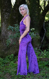 Purple Velvet Tigra Jumpsuit