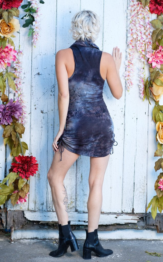 Dark Sky Suede Crush Huntress Cinch Dress