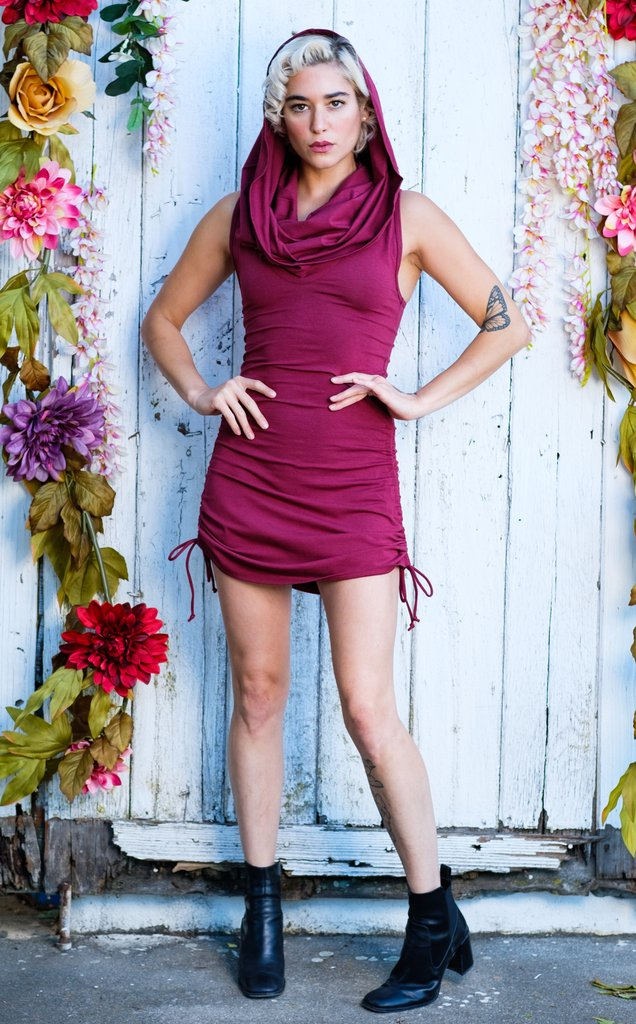 Bamboo Maroon Huntress Cinch Dress