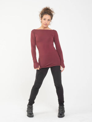 Boatneck Long Sleeve Tee