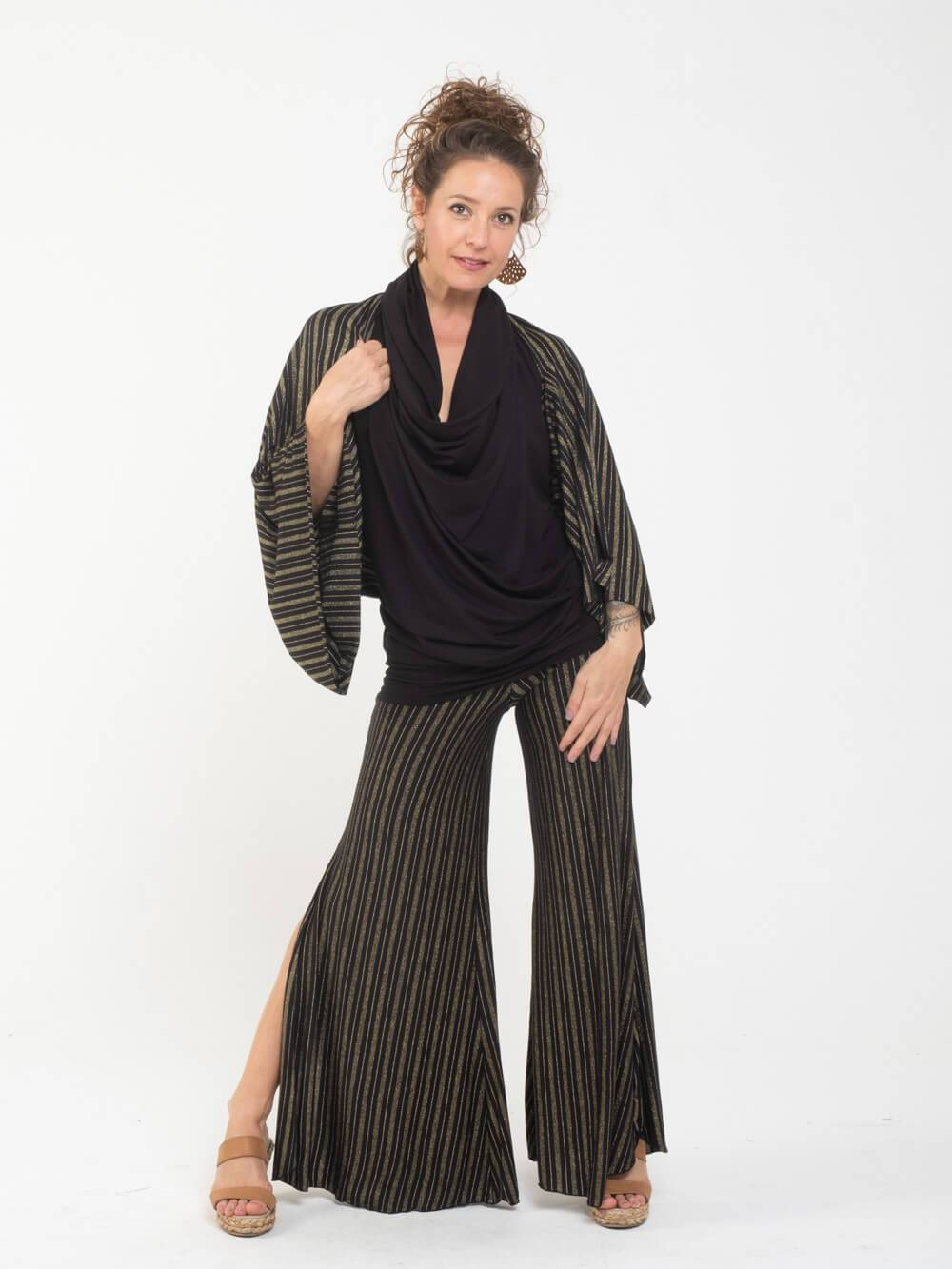 Gold Stripe Wing Shrug