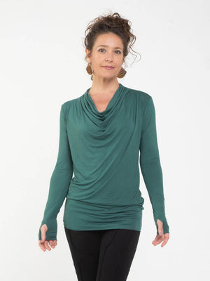 Long Sleeve Waterfall Top