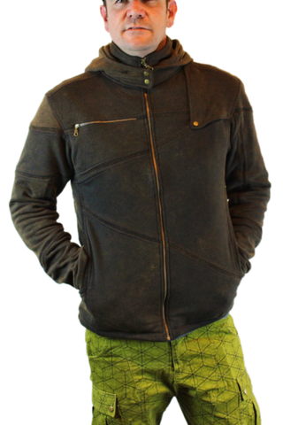 Organic Cotton Cross Over Hoodie