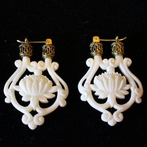 Lotus Flower Earings by Liquid Fire Mantra