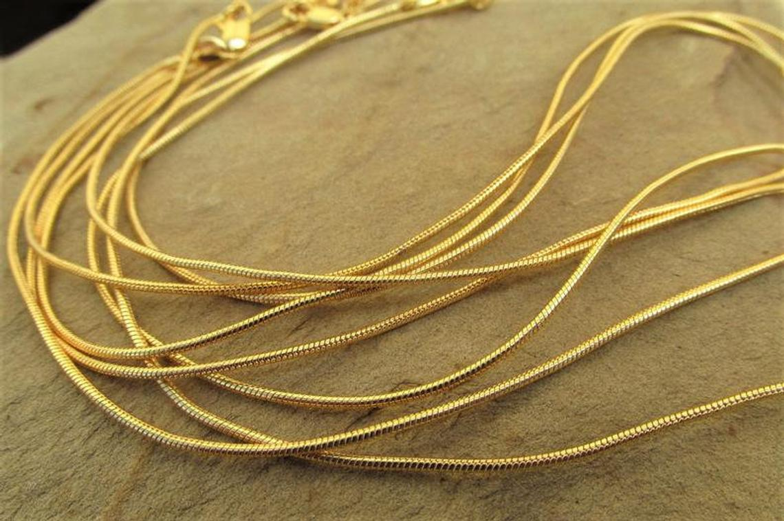18k Gold Filled Snake Chain
