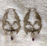 HumGaiaTri Earrings - Silver