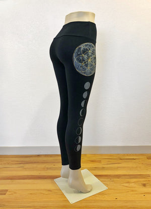 Seed of Life Moon Phase Leggings