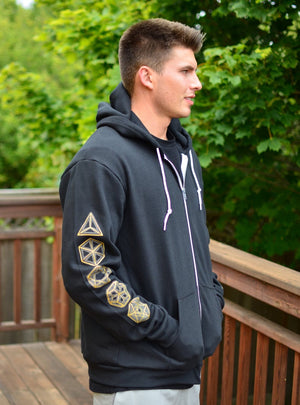 Glow in the Dark Metatron's Cube Zip Up Hoodie