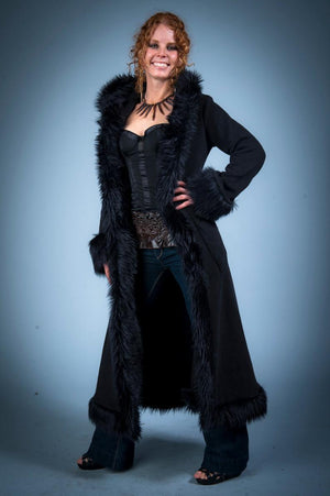 Black on Black Baroness Coat
