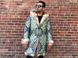 Sultan Blue -Reversible Festival Coat  UNISEX