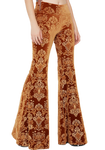 Sophie Velvet Bell Bottom Pants - Funk & Flash